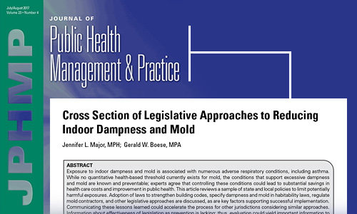 Cover of the Journal of Public Health Management & Practice